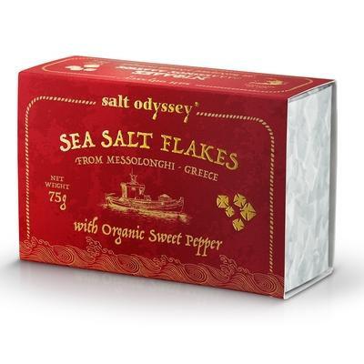 Salt Odyssey Meersalzpyramiden mit süßer BIO-Paprika  -75g