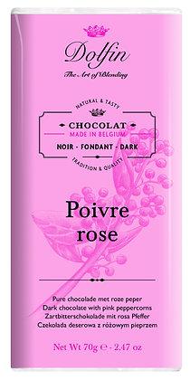 Dolfin Zartbitterschokolade mit rosa Pfeffer - 70g