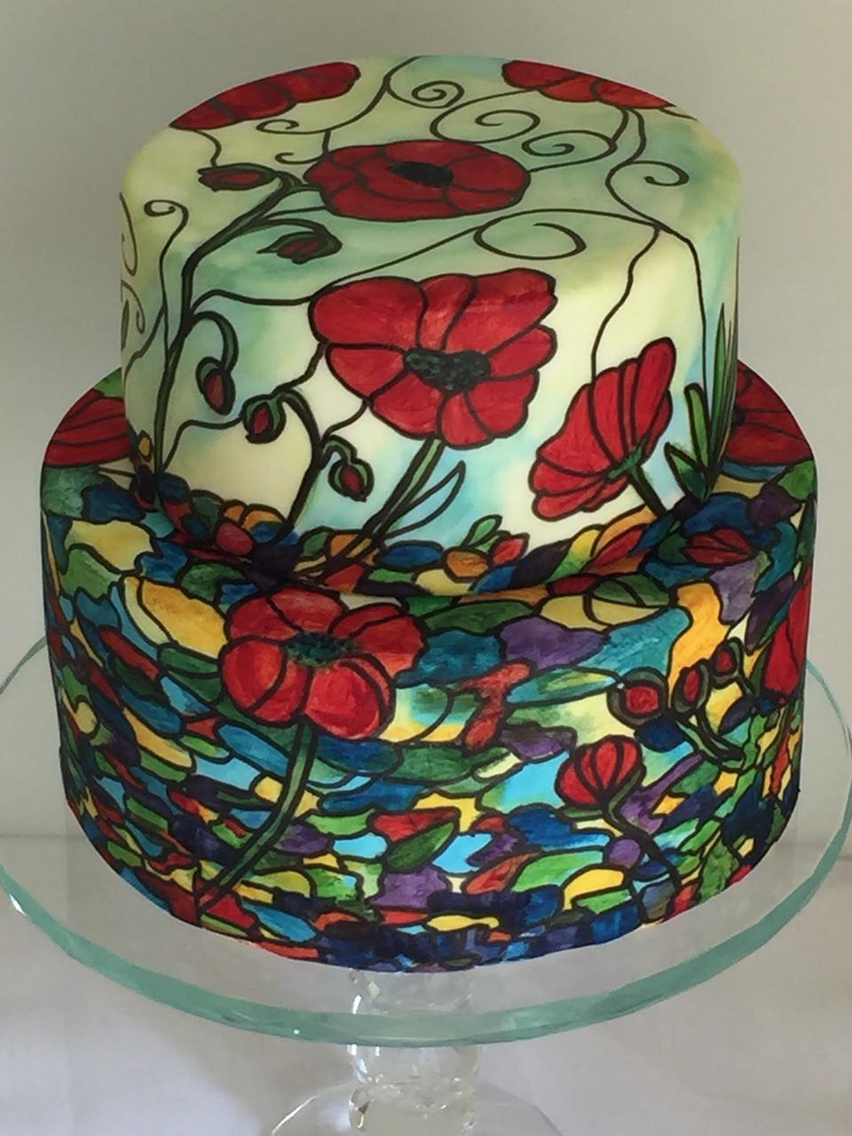 torta de bodas pintada