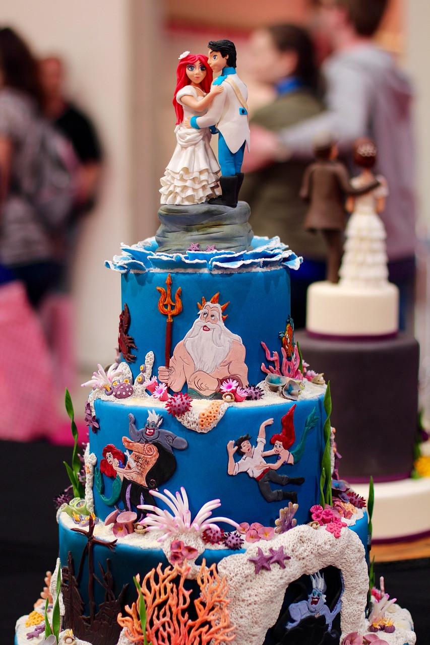 torta de bodas temática