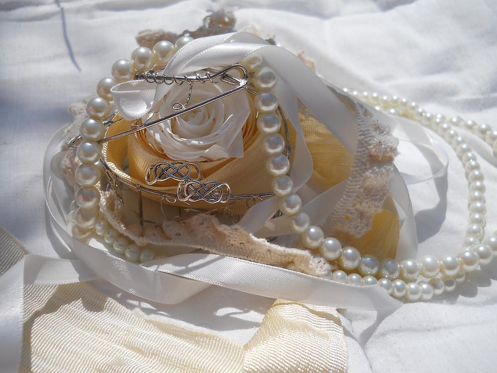 boda shabby chic; accesorios de la novia