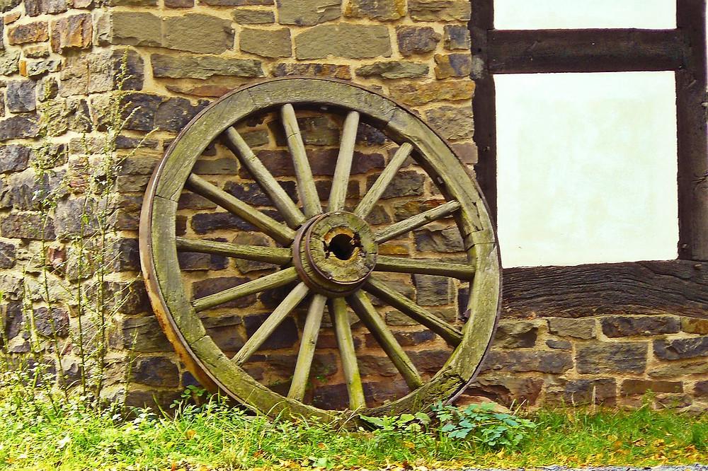 boda gaucha; rueda de carro