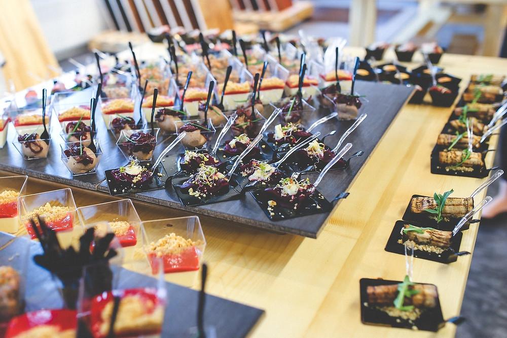 minifoods; fiambre; boda