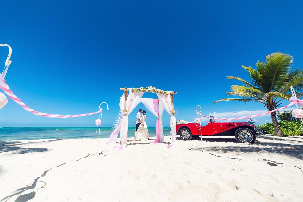 boda romántica frente al mar