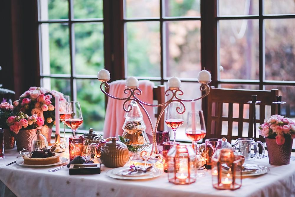 boda shabby chic; decoración mesa