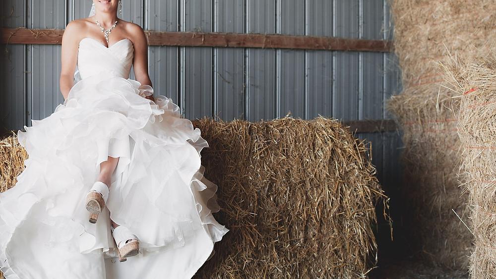 boda campestre; vestido de novia