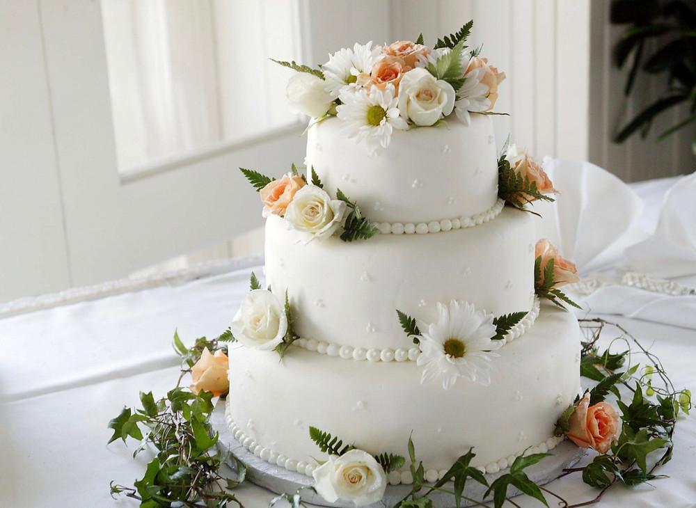 torta de bodas con fondant