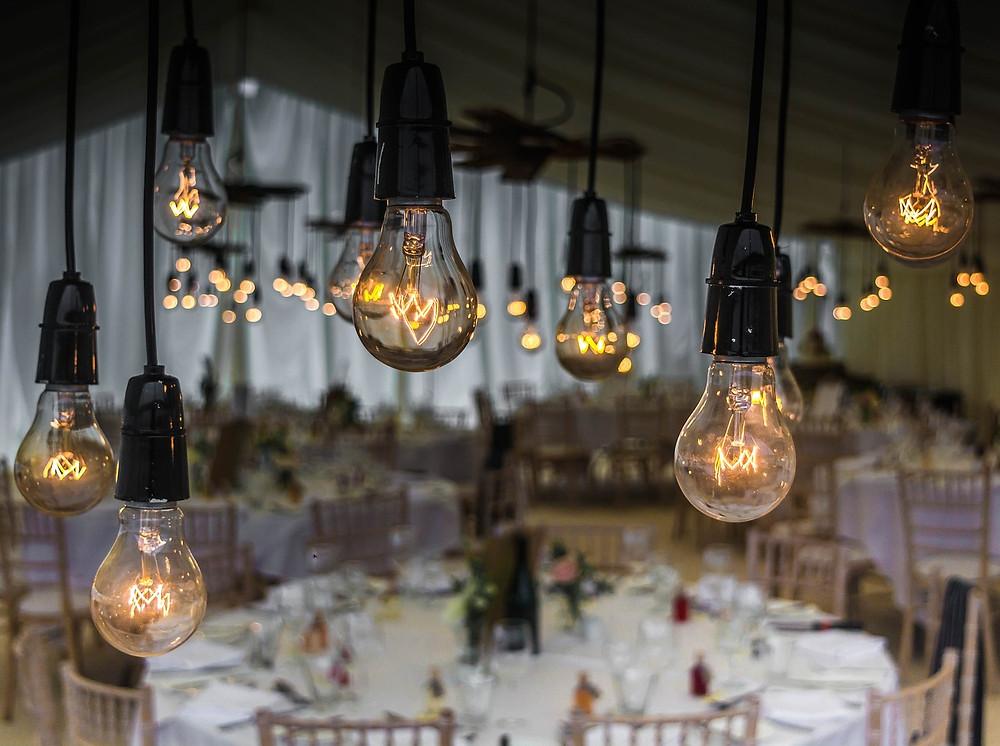iluminación boda industrial