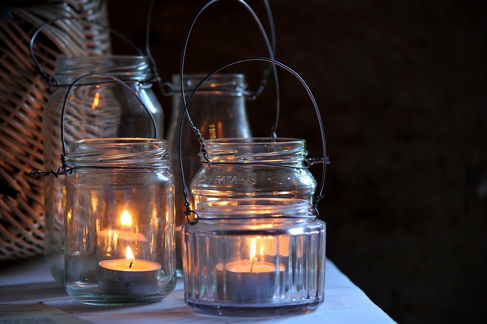 boda ecológica; iluminación; reciclado