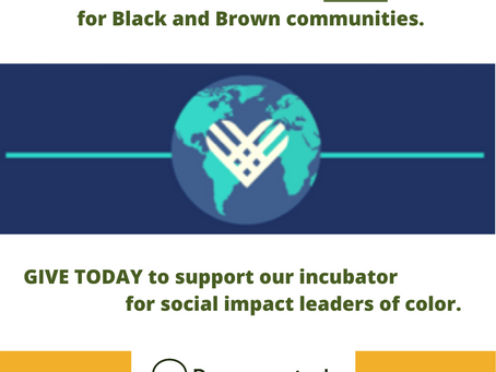 On Giving Tuesday Now, help us grow our incubator and train 15 new leaders