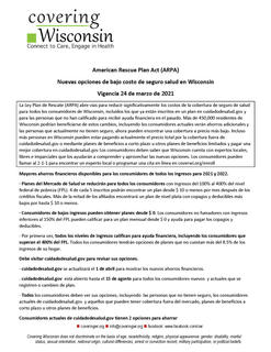 Policy Summary_American Rescue Plan_2021