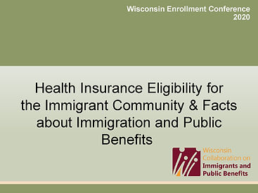 Immigrant eligibility and Public Charge
