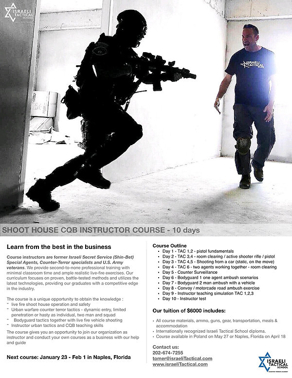 Live fire shoot house instructor course