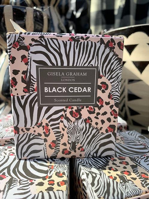 Gisela Graham Candle Black Cedar L