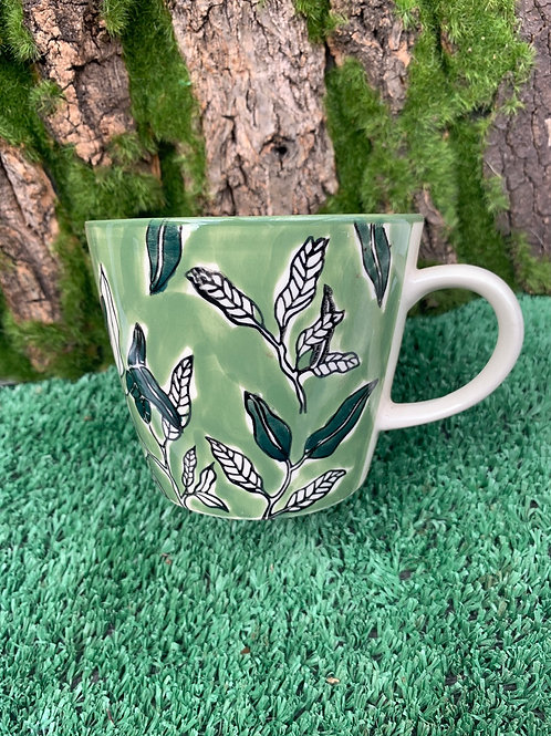 Green Pattern Cup