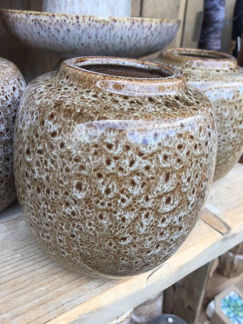 Brown Stoneware Vase 135x H14
