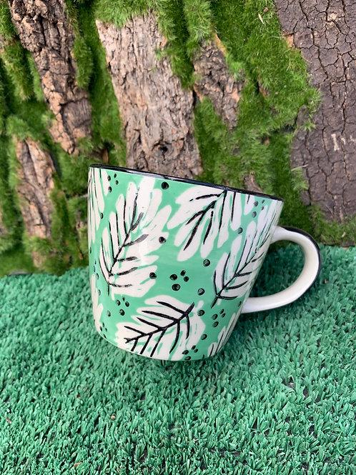 Leaf Green Pattern Cup