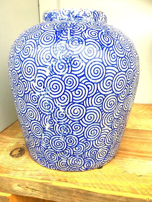 Blue Twirl Vase (S)