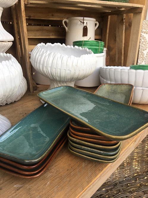 Multi-colour Stoneware Aime Plate L255xW9