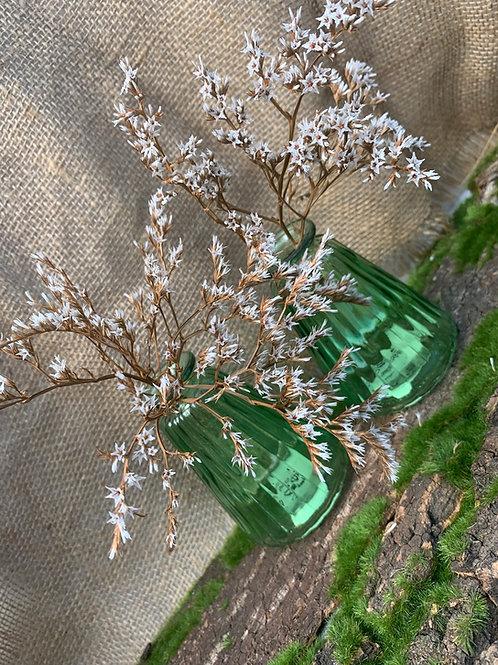 Green Glass Bud Vases