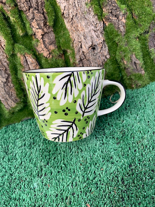 Lime Green Pattern Cup