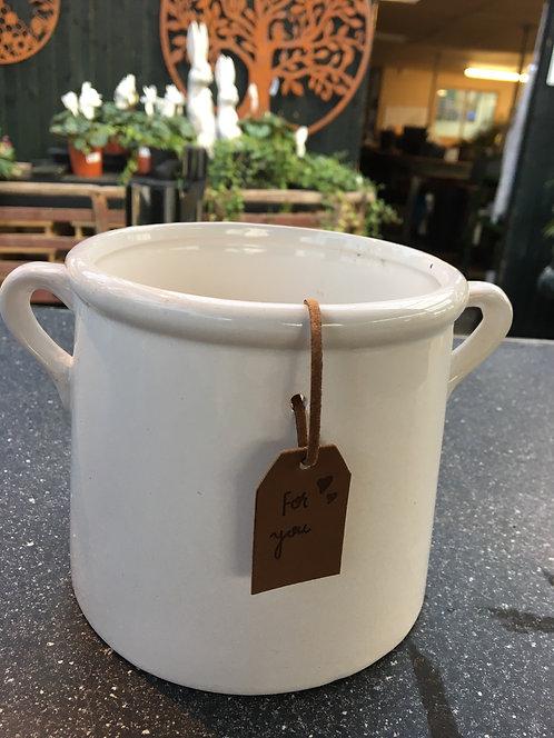 White Pot 15cm
