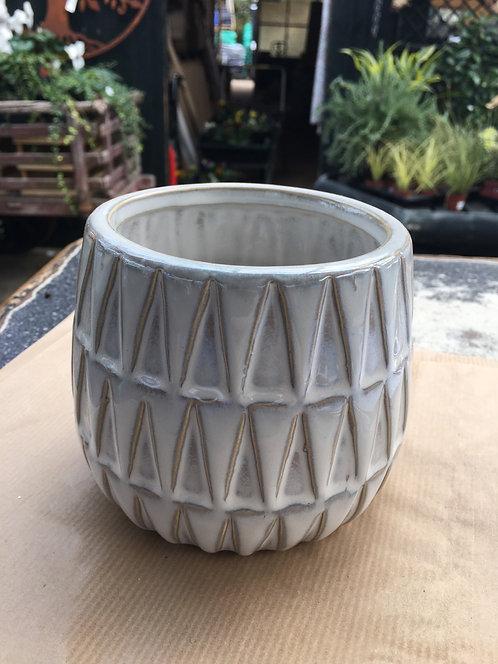 Plant pot Nomad Small Ceramic White