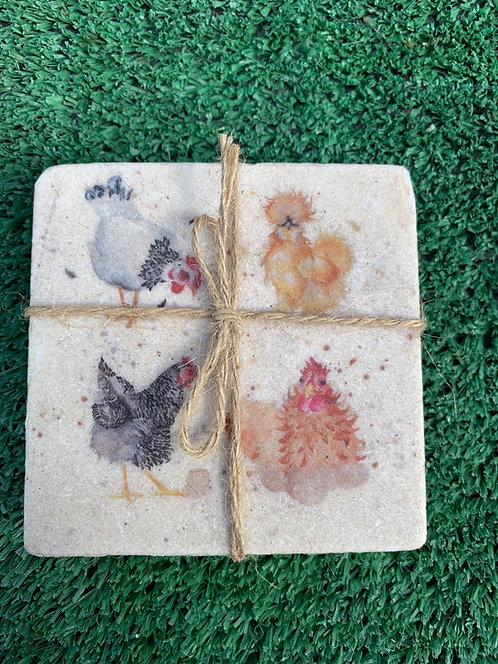 British Collection Hens Coaster