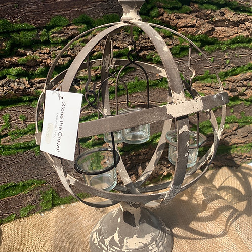 Small Globe Tealight Holder On Stand
