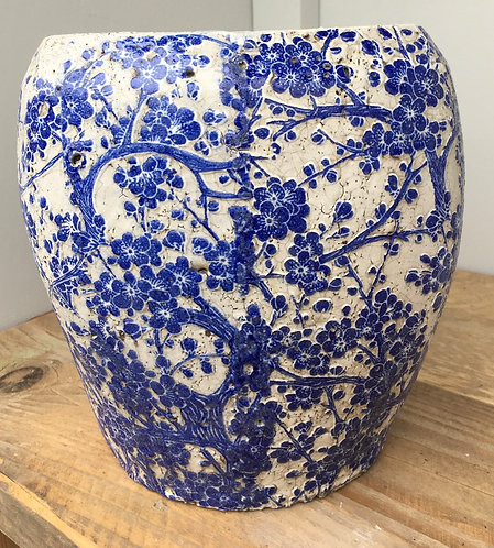 Blue Flower Planter (L)