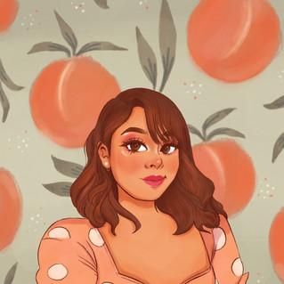 Peach Selfie