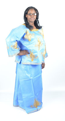 Blue & Gold Brocade