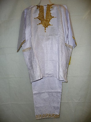 White Set with Gold Embroidery