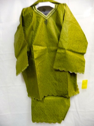 Green Set with Green Embroidery