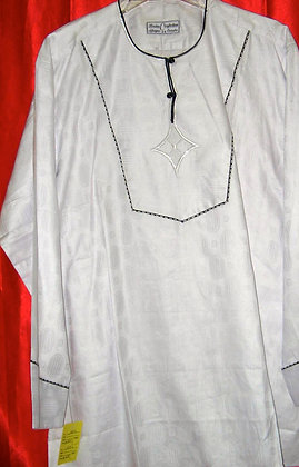 White Brocade Dashiki