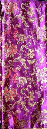 Purple, Gold & Red Asian Fabric