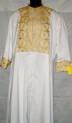White Robe with Gold Embroidery