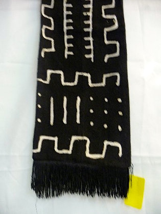 Black & White Mud Cloth Scarf