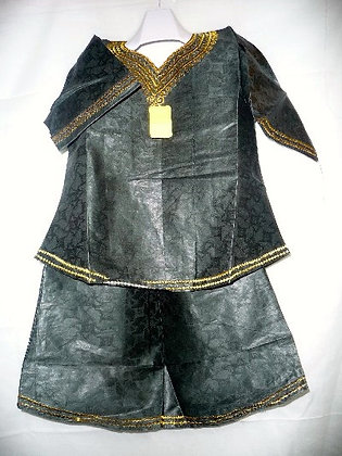 Green Brocade with Gold Embroidery
