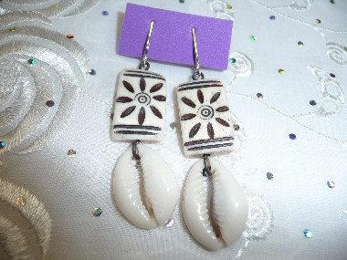 Wood & Shell Earrings
