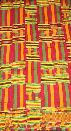 Hand Woven Kente Fabric from Ghana