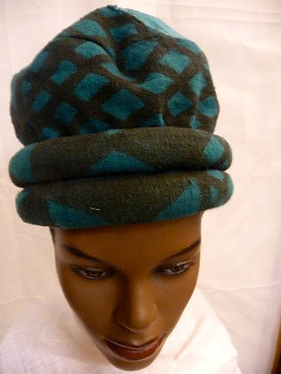 Blue & Brown Mud Cloth Hat