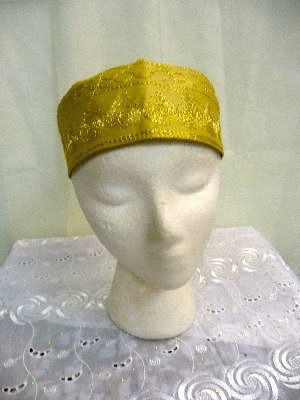 Gold Hat with Gold Embroidery