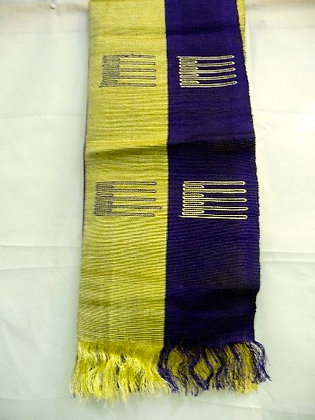 Purple & Gold Asoke Scarf