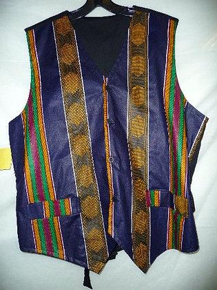 African Print Vest