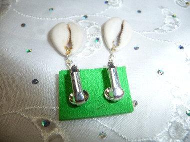 Clip-On Shell Earrings