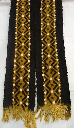 Black, Tan & Beige Mud Scarf