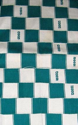 Green & White Kente Fabric