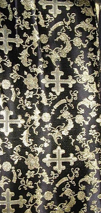 Black & Gold Asian Fabric