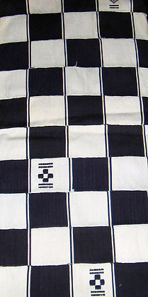 Black & White Kente Fabric